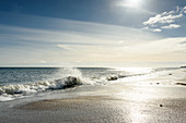 Waves on the beach of Kraksdorf, Baltic Sea, Ostholstein, Schleswig-Holstein, Germany