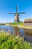 The De Kaagmolen windmill (Opmeer municipality, North Holland, Netherlands)