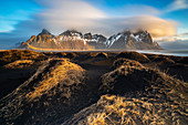 Vestrahorn at sunrise, Stokksnes peninsula, Hofn, Austurland, Iceland , Northern Europe