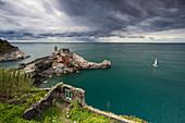 Stürmisches Wetter in Portovenere, La Spezia, Ligurien, Italien, Südeuropa