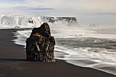 Waves at Reynisfjara, Vík í Mýrdal, Southern Iceland, Iceland, Northern Europe
