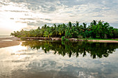 Tangalle, Hambantota District, Southern Province, Sri Lanka, Southern Asia. A small pond by Tangalle Beach.