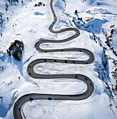 Aerial view of Julier Pass, Albula, Engadine, Canton of Graubunden, Switzerland, Southern Europe