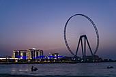 Night scene, the Eye of Dubai, Dubai, UAE