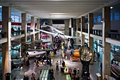 England, London, South Kensington, Science Museum, aircraft in transportation hall