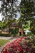Australia, Victoria, Melbourne, East Melbourne, Fitzroy Gardens, Cooks Cottage, reconstructed Yorkshire cottage built by the parents of explorer Captain James Cook