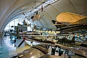 United Kingdom, London-Hendon, RAF Museum London, Milestones of Flight Gallery, interior, WW2-era P-51D Mustang, US-made fighter plane