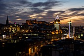 United Kingdom, Scotland, Edinburgh, listed as World Heritage, the Castle and the Balmoral Tower