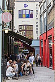 United Kingdom, London, Soho district, Carnaby Street, Kingly Court, foodie destination, bars, restaurants, terraces