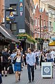 United Kingdom, London, Soho district, Carnaby Street, Fouberts Square pedestrian zone