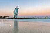 Just before sunrise at the Burj al Arab in Dubai, UAE