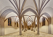 empty hall church St. Johann Baptist, Bad Honnef / Rhein, Germany