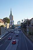 Most SNP, 4-lane road in Bratislava, Slovakia.