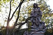 Statue of Saint Elizabeth of Hungary at the Bratislava Castle, Bratislava, Slovakia.