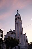 St. Elizabeth Church at sunset in Bratislava, Slovakia