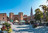 Landtor in the old town of Landshut, Bavaria, Germany