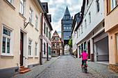 Steeger Tor in der Blücherstrasse in Bacharach am Rhein, Rheinland-Pfalz, Deutschland