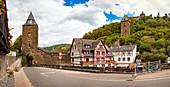 Steeger Tor in der Blücherstraße in Bacharach am Rhein, Rheinland-Pfalz, Deutschland