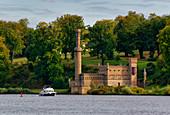 Havel, Tiefer See, Dampfmaschinenhaus, Babelsberger Park, Potsdam, Land Brandenburg, Deutschland