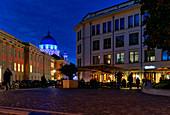 Otto Braun Platz, City Palace, Landtag Brandenburg, Nikolaikirche am Alten Markt, Potsdam, State of Brandenburg, Germany