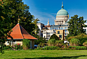 Gatehouse on the Friendship Island, Alter Markt, Nikolaikirche, Old Town Hall, Potsdam, State of Brandenburg, Germany
