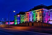 City Palace, Landtag Brandenburg, lighting for the 30th Day of German Unity, Potsdam, Land Brandenburg, Germany