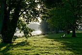 Jungfernsee, Havel, near the Glienicker Bruecke, Potsdam, State of Brandenburg, Germany