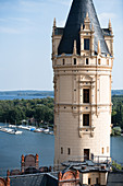 On the roofs of Schwerin Castle - view of Lake Schwerin, Mecklenburg-Western Pomerania, Germany
