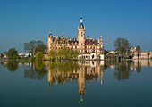 Schwerin Castle in spring, Mecklenburg-Western Pomerania, Germany