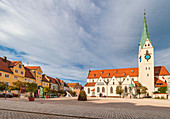 St. Mang Square in Kempten, Bavaria, Germany