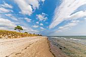 Autumn on the beach of Klostersee Kellenhusen, Baltic Sea, Ostholstein, Schleswig-Holstein, Germany