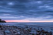 Abendstimmung am Strand von Weissenhaus, Eitz, Ostholstein, Ostsee, Schleswig-Holstein, Deutschland