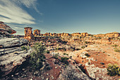 Rock formations in Canyonlands National Park; Utah, USA, North America