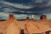 Photographer in Monument Valley, Arizona, Utah, USA, North America