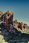 Rock formations at Sedona, Arizona, USA, North America, America