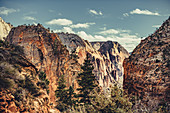 Zion Canyon seen from Angels Landing, Utah, USA, North America, America