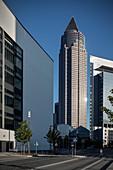 Messeturm in Frankfurt am Main, Hessen, Deutschland, Europa