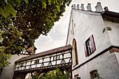 historic building in the cloister courtyard, Blaubeuren, Alb-Donau district, Swabian Alb, Baden-Wuerttemberg, Germany, Europe