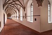 Cloister in Heiligkreuztal monastery (former Cistercian abbey), Altheim near Riedlingen, Upper Swabia, Baden-Wuerttemberg, Germany, Europe