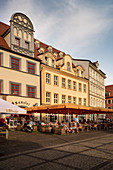 Cafes and restaurants on the market square, Naumburg an der Saale, Saxony-Anhalt, Germany, Europe