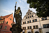 Wenceslas fountain on the market square of Naumburg an der Saale, Saxony-Anhalt, Germany, Europe
