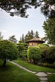 """Weinberghaus im Japanischen Garten, Schlossgarten """"Blühender Barock"""", Schloss Ludwigsburg, Metropolregion Stuttgart, Baden-Württemberg, Deutschland, Europa"""