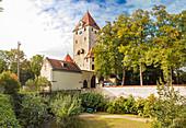 Ostentor in Regensburg, Bayern, Deutschland