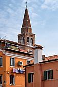 View of the Church of Pellestrina San Pietro in Volta, Venice Lagoon, Pellestrina, Veneto, Italy, Europe
