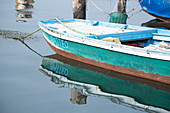Detail view of a fishing boat in the port of Pellestrina, Venice Lagoon, Pellestrina, Veneto, Italy, Europe