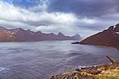 Fjords at Senjahopen on Senja Island, Norway