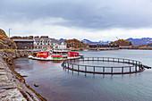 Hamn fishing village on Senja island, Norway