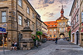 Old town hall in Bamberg, Upper Franconia, Franconia, Bavaria, Germany, Europe | City of Bamberg during sunset. UNESCO World Heritage