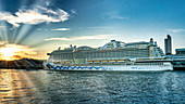 Cruise ship Aida Perla, Port of Hamburg, Hamburg, Germany, Europe