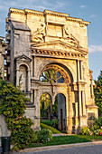Historic Saint Martin Archway in Epernay, Champagne, France